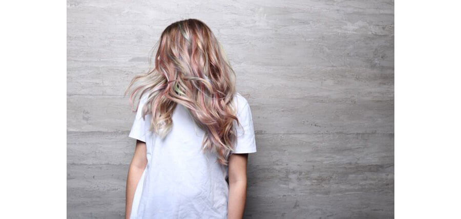Color Intensity model hair after