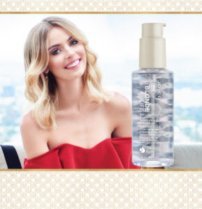 Blonde Life Model with Blonde Life Oil Product