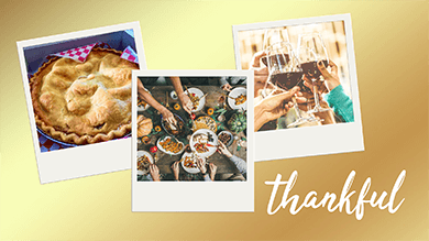 Thankful Signage With Food Images
