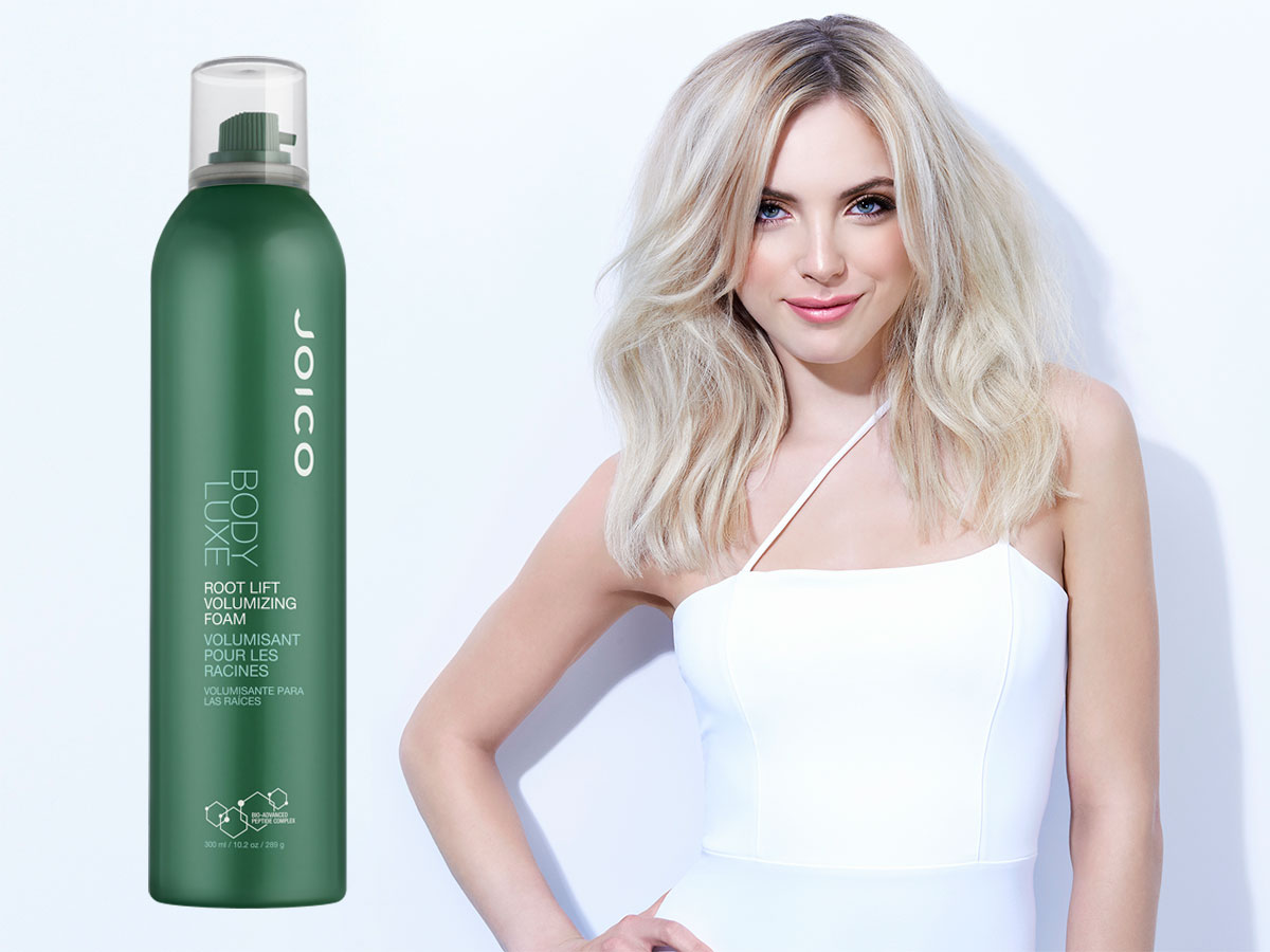 Body Luxe Root Lift model and product