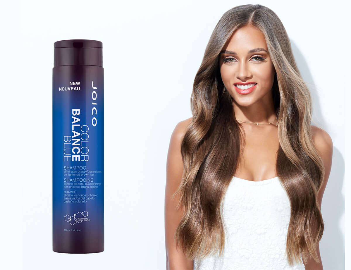 Color Balance Blue Shampoo Product and Model