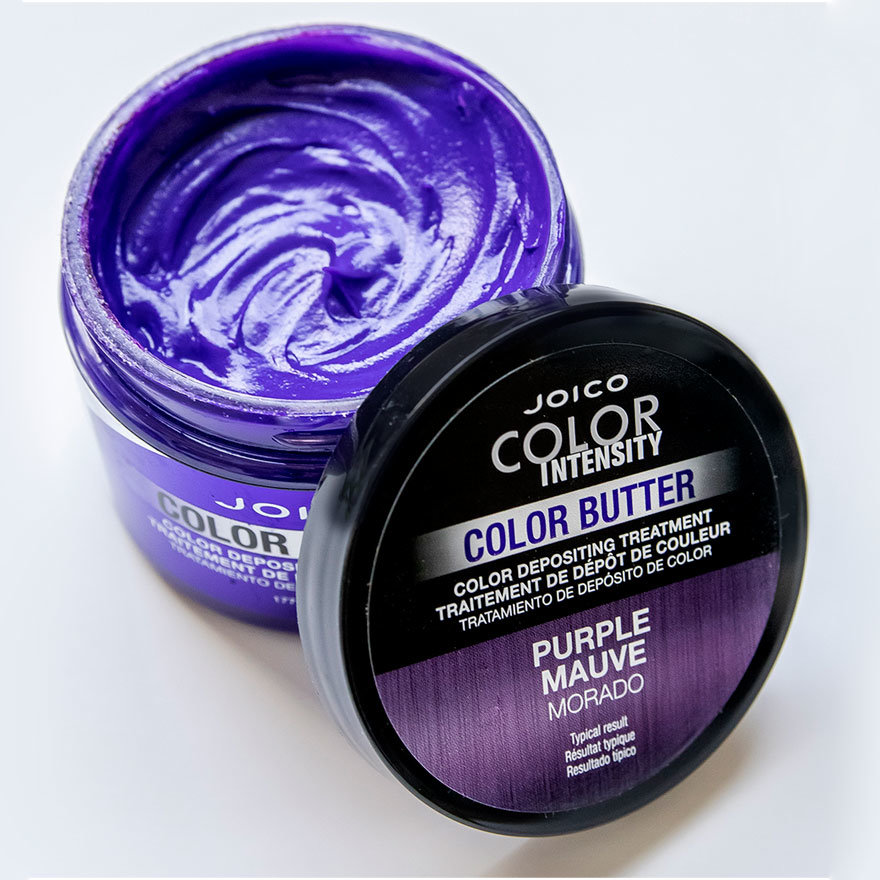 Color Butter Purple jar open