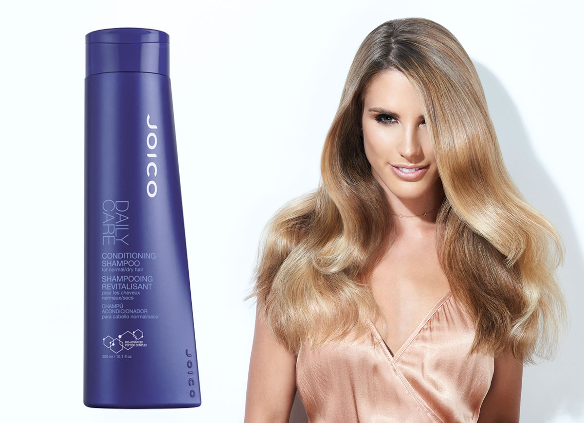 Daily Care Conditioning shampoo and model