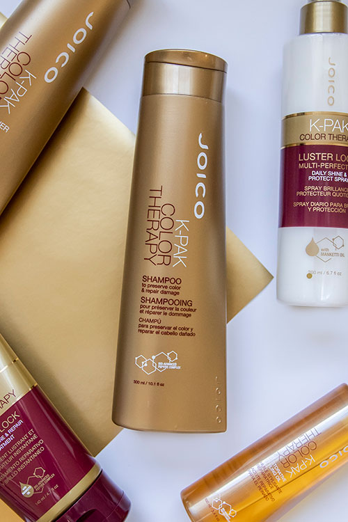 K-PAK Color therapy shampoo bottle