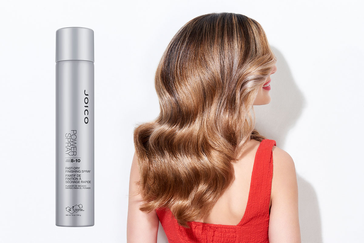Power Spray hairspray model and product