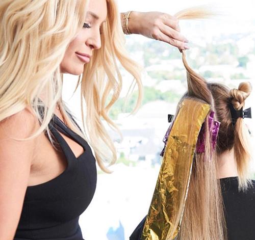 Zoe Carpenter coloring models hair