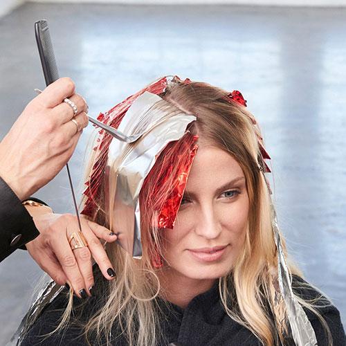 Caramel Contour hair color technique step 12