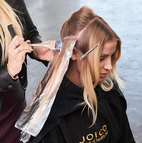 Caramel Contour hair color technique step 5