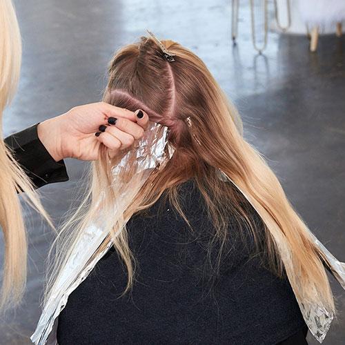 Caramel Contour hair color technique step 6