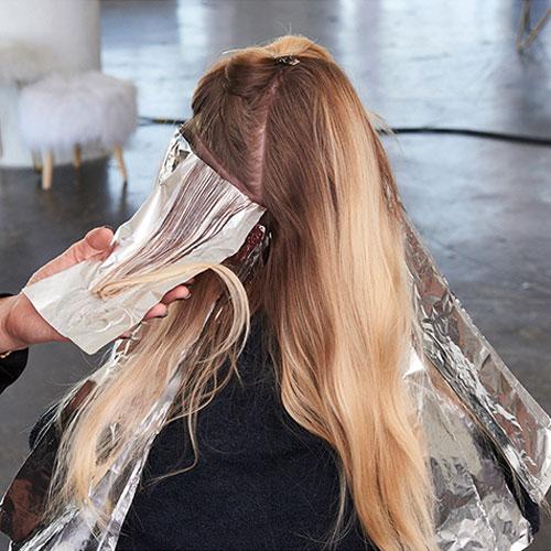 Caramel Contour hair color technique step 7