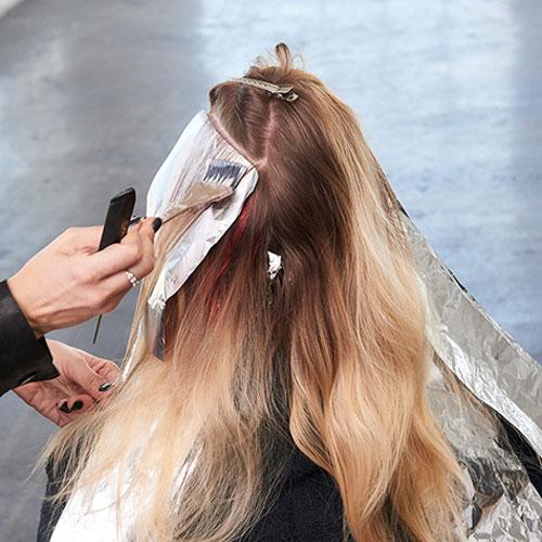 Caramel Contour hair color technique step 9