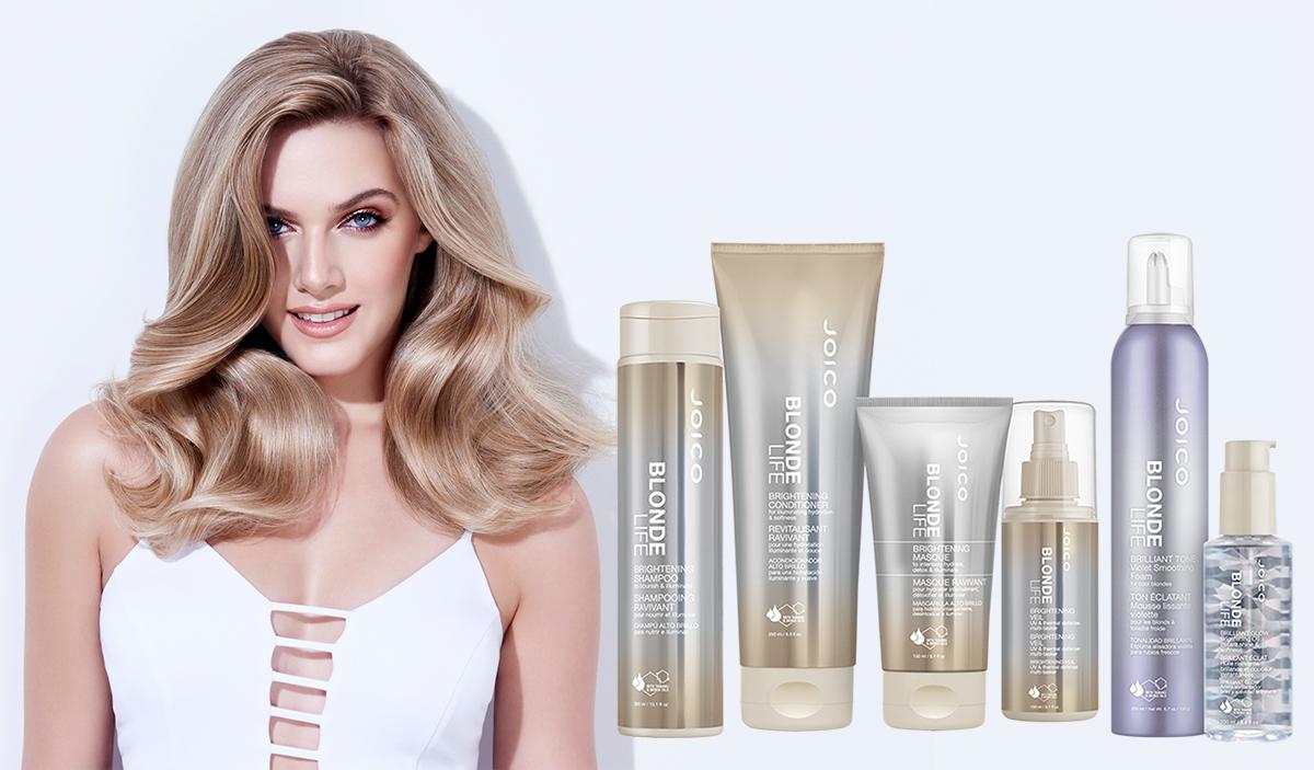 blonde life full line bottles with model