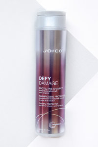 defy damage shampoo bottle