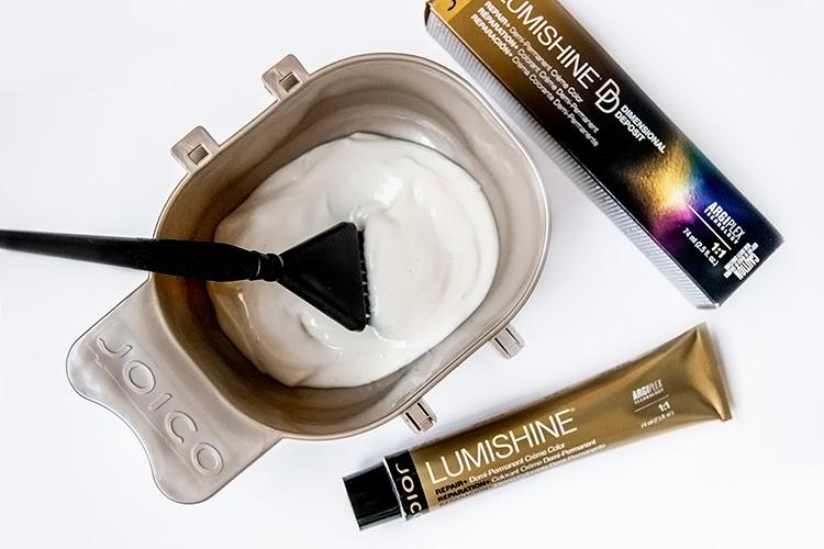 lumishine demi permanent creme color in bowl