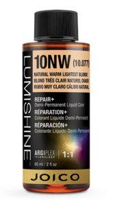 Lumishine liquid hair color bottle