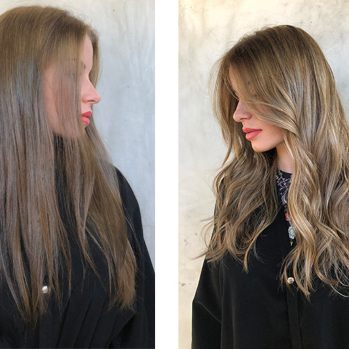 Honey Blonde Hair Color Before and Afte