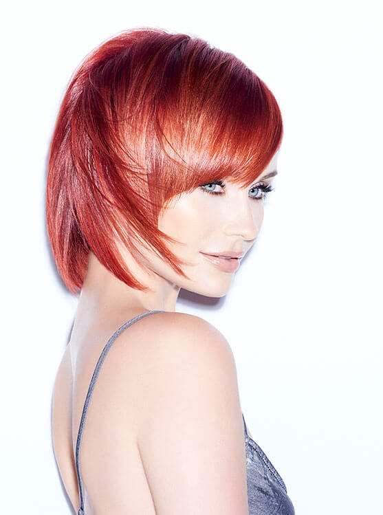 LumiShine Model with beautiful red hair