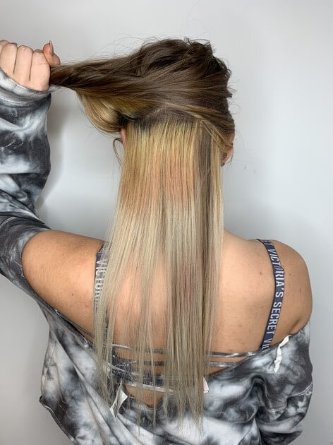 Color correction blonde hair before