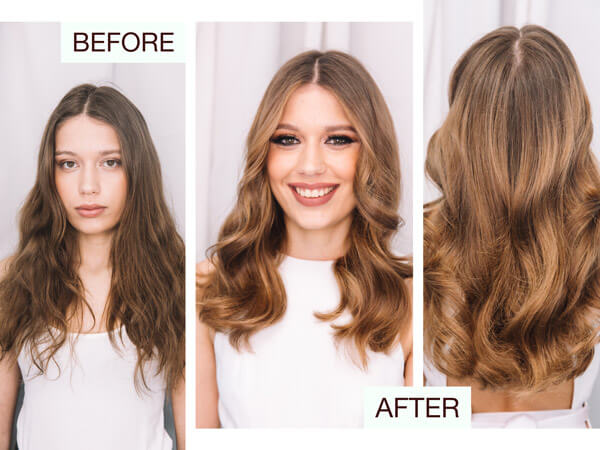 Larisa Love summer hair color model before after llok