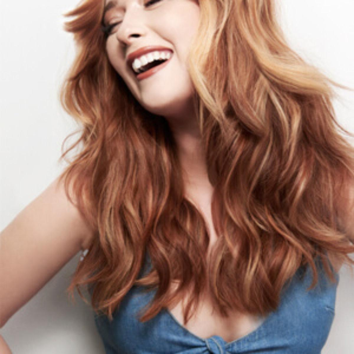 Red/Auburn hair with highlights