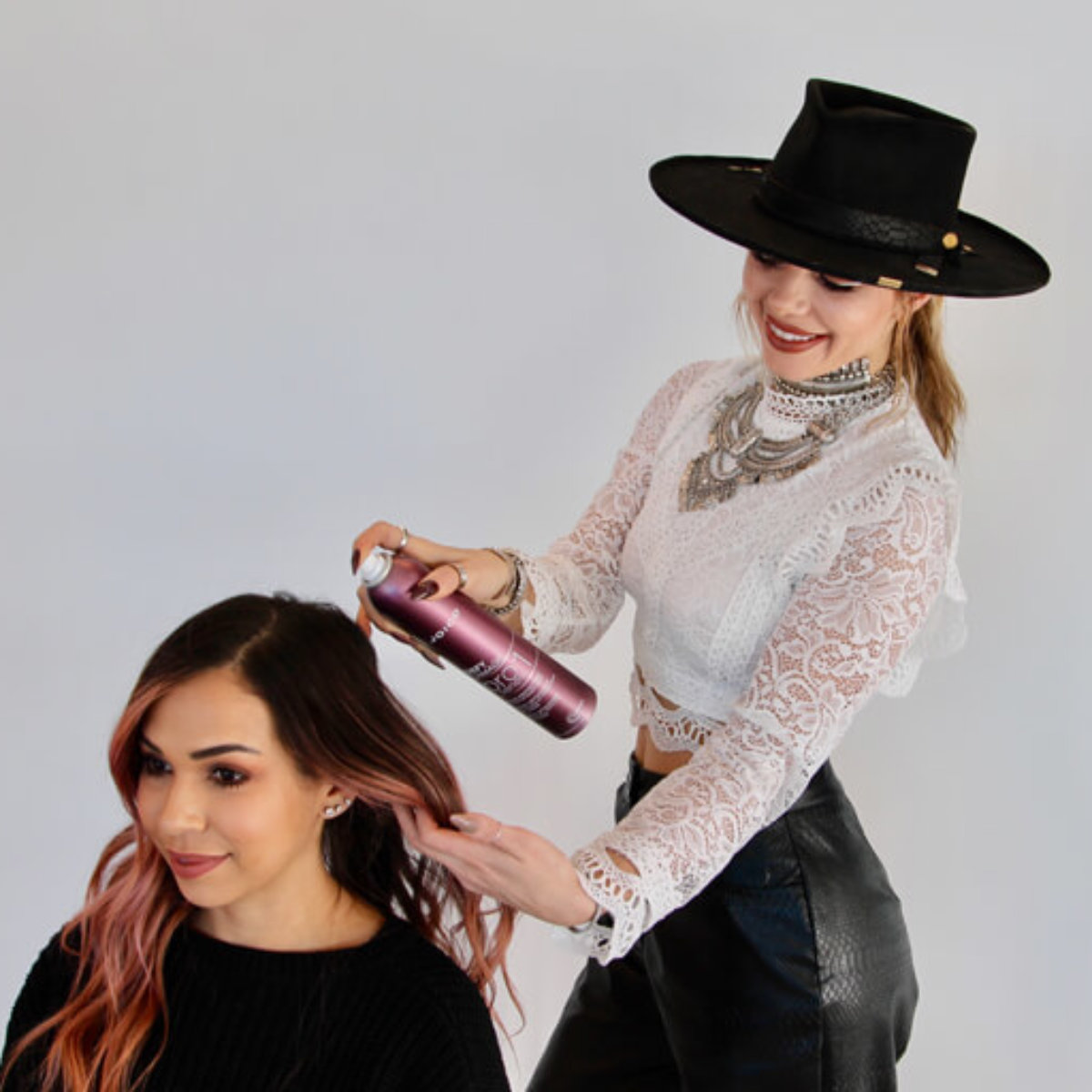 Larisa love prepping clients hair